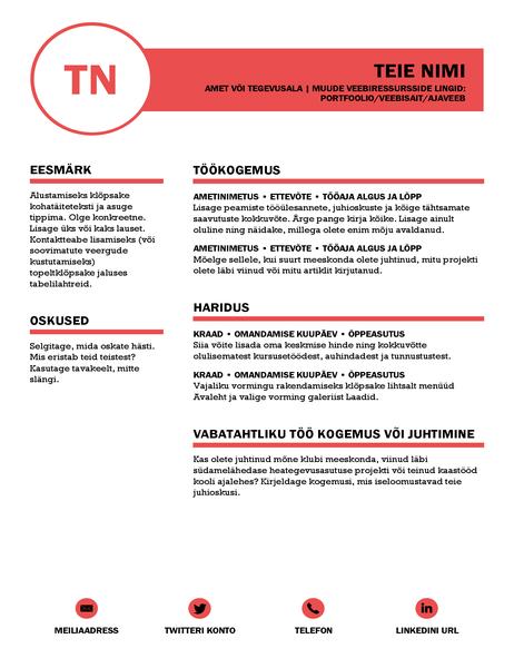 MOO kujundatud viimistletud elulookirjeldus