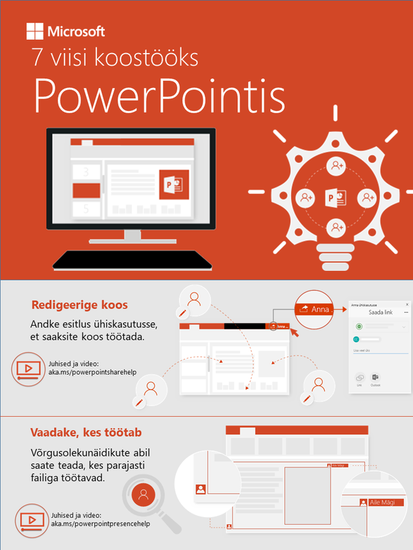 7 viisi koostööks PowerPointis