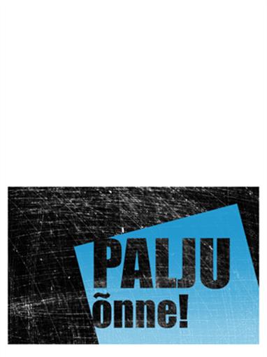 Sünnipäevakaart, kriimuline taust (must, sinine, pooleks murtav)