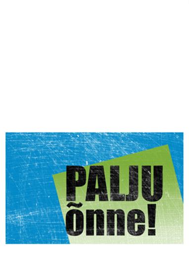 Sünnipäevakaart, kriimuline taust (sinine, roheline, pooleks murtav)