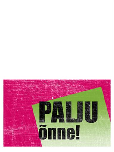 Sünnipäevakaart, kriimuline taust (roosa, roheline, pooleks murtav)