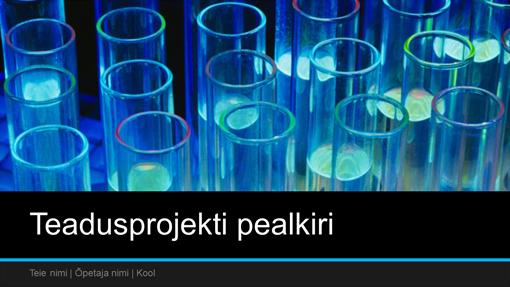 Teadusprojekti esitlus (laiekraan)