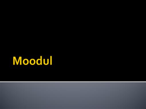 Moodul