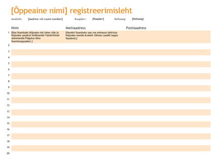Registreerimisleht