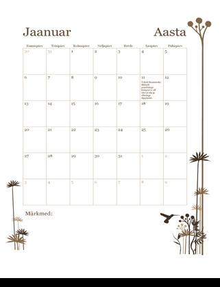 12 kuu kalender (E–P)