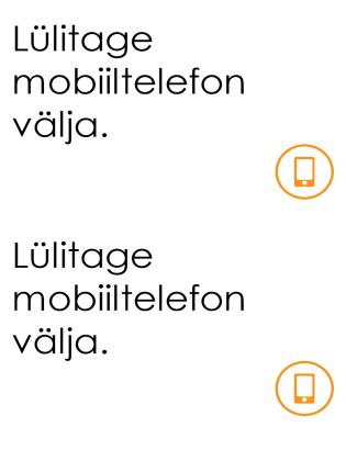 Mobiiltelefoni väljalülitamise meeldetuletus