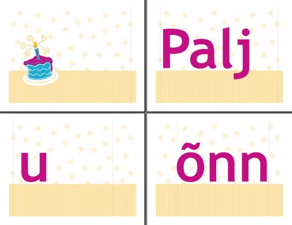 Sünnipäeva õnnesoovide plakat