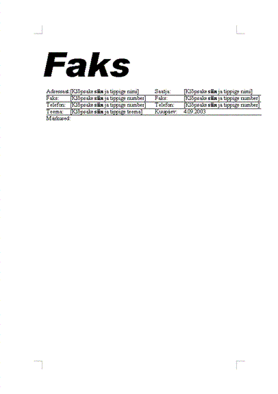 Standardfaks