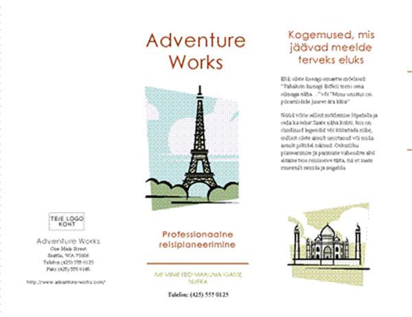 Reisivoldik (8 1/2 x 14 tolli, horisontaalne, neljaksvolditud)