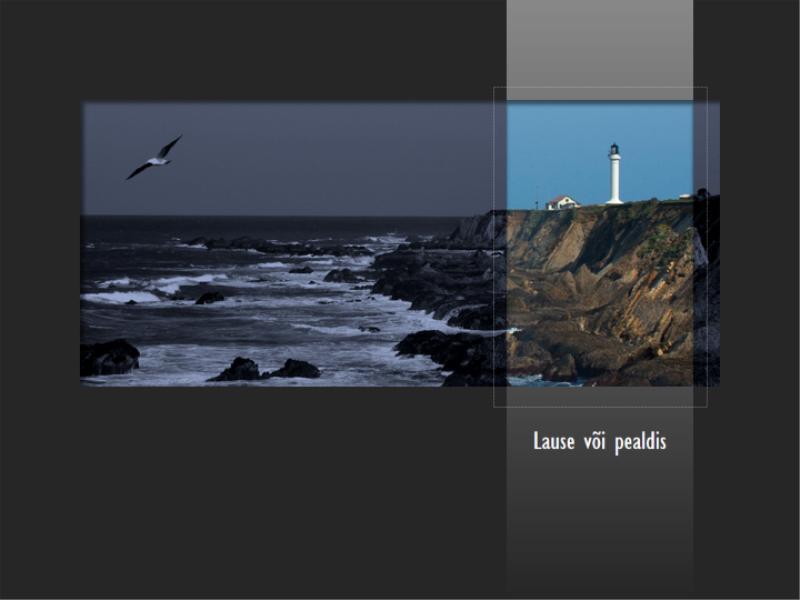 Animeeritud muudetud värvidega pilt ilmub mustvalge pildi asemele