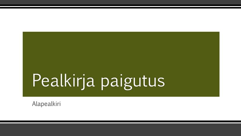 Musta triibutatud äärisega esitlus (laiekraan)