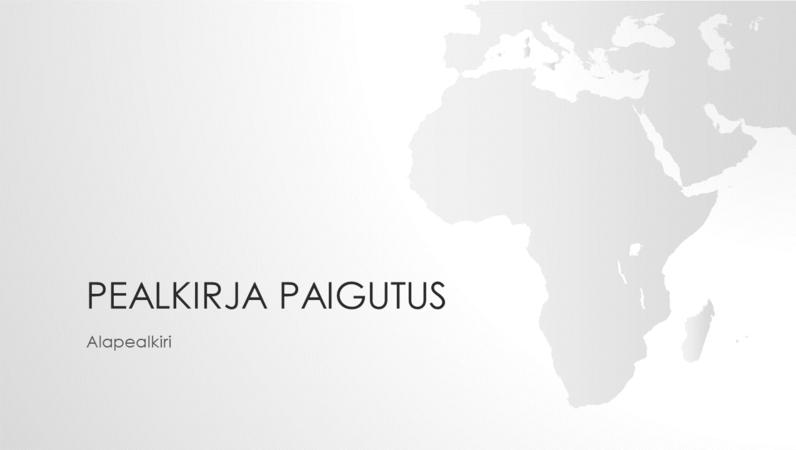 Maailmakaartide sarja kuuluv Aafrika maailmajaoga esitlus (laiekraan)