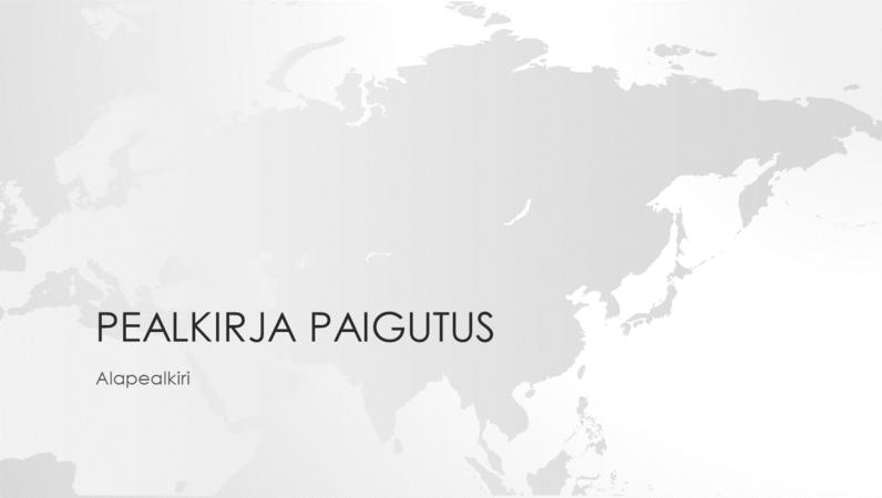 Maailmakaartide sarja kuuluv Aasia maailmajaoga esitlus (laiekraan)
