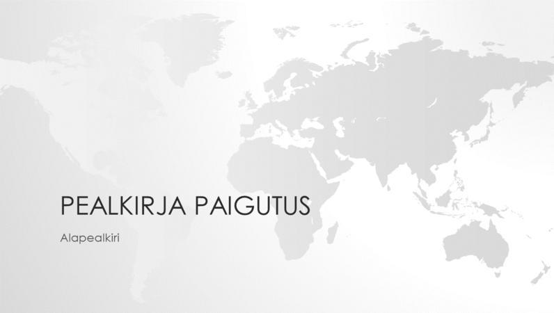 Maailmakaartide sarja kuuluv maailmakaarti kujutav esitlus (laiekraan)