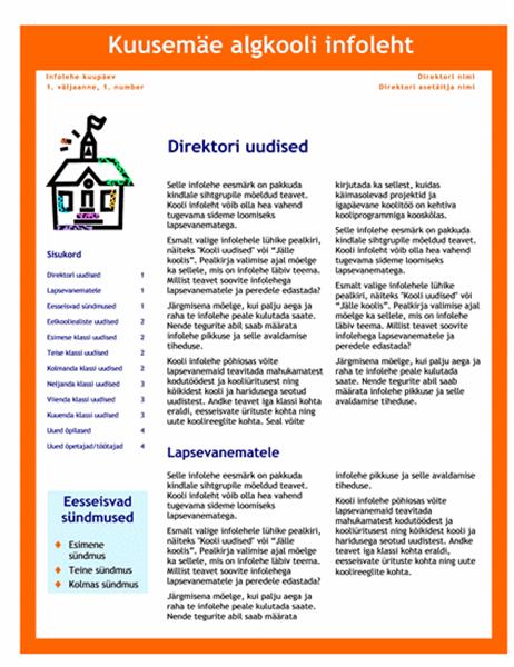 Kooli infoleht (3-värviline, 4 lk)