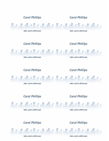 Lõpetajate nimekaardid
