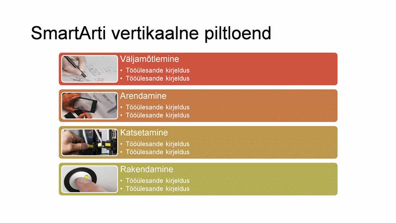 SmartArti vertikaalne piltloend (mitmevärviline valgel taustal), laiekraan