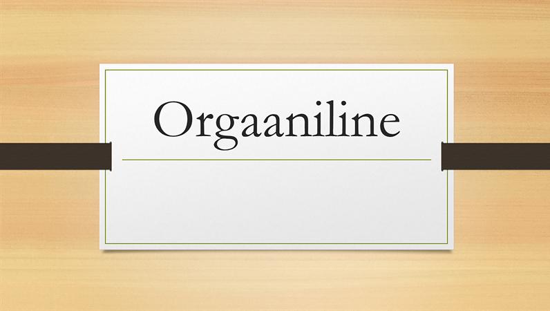 Orgaaniline