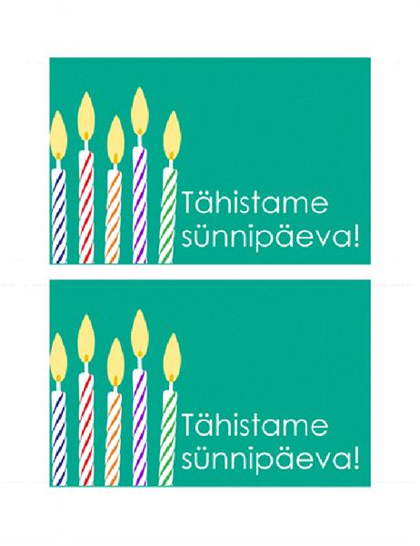 Postkaart Sünnipäevakutse