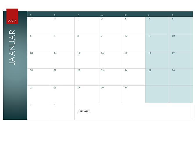 Suvalise aasta kalender (kujundus Ion)
