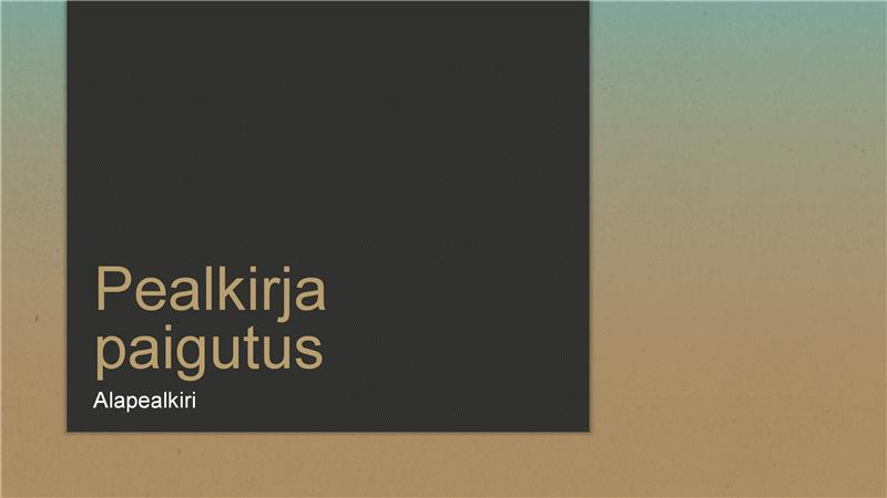 Sinise/päikesepruuni astmikuga esitlus (laiekraan)