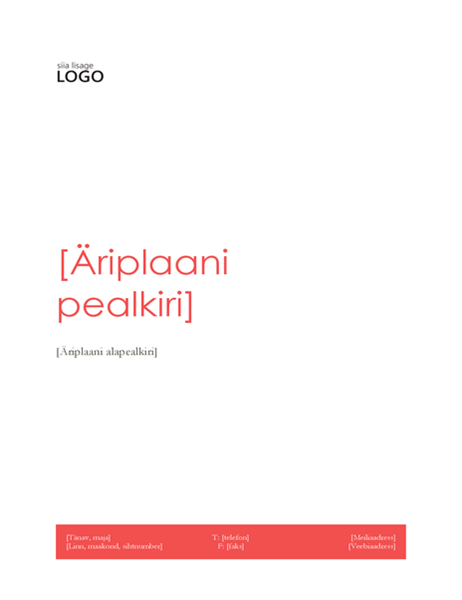 Äriplaan (punane kujundus)