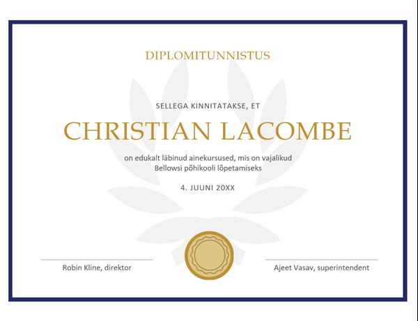 Diplomitunnistus