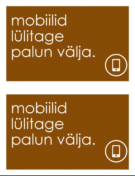 Mobiiltelefoni keelumärk (2 lehe kohta)