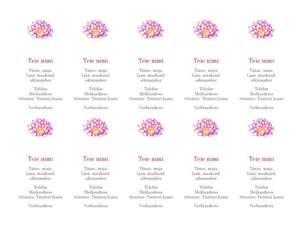 Lillekujundusega isiklik visiitkaart (vertikaalne)