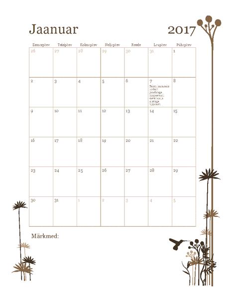 2017. aasta fotokalender (E–P)