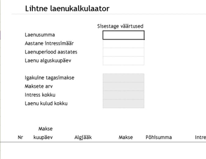 Laenukalkulaator