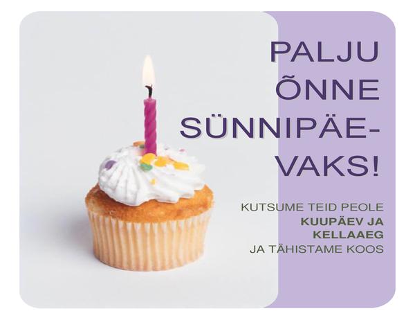 Sünnipäeva kutse flaier (koogikesega)