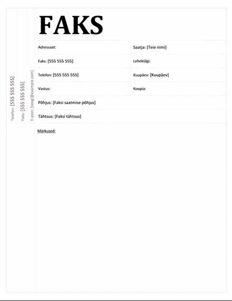 Faksi esileht (akadeemiline kujundus)