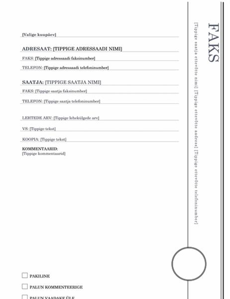 Faksi esileht (ärkliteemaline kujundus)