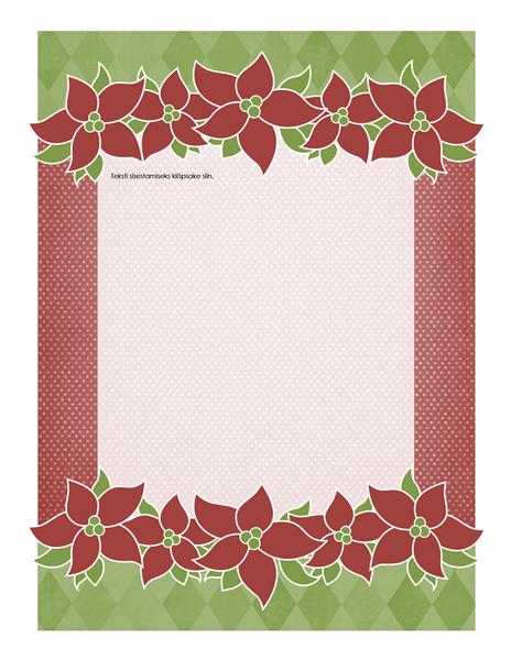 Pühade kirjaplank (jõulutähega kujundus)