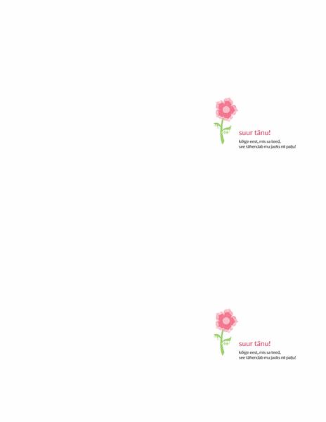 Tänukaart (lilleline kujundus)