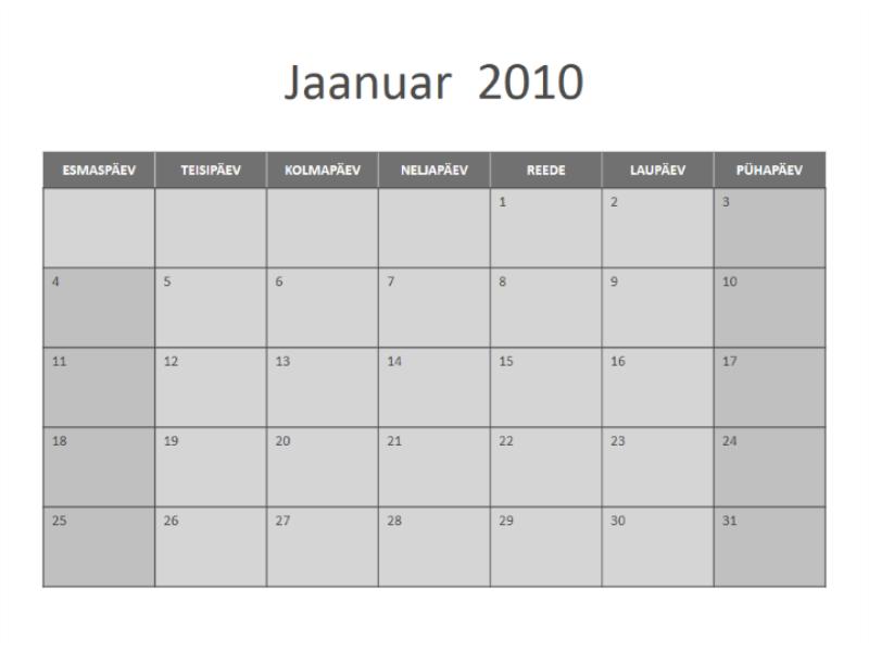 Kalender 2010 (E–P)