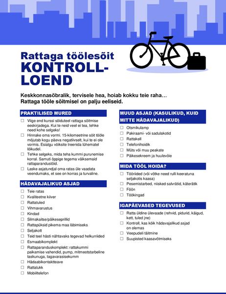 Jalgrattaga töölesõidu kontroll-loend