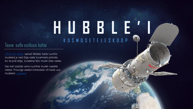 Ruumiline PowerPointi esitlus (Hubble'i kosmoseteleskoobi mudel)