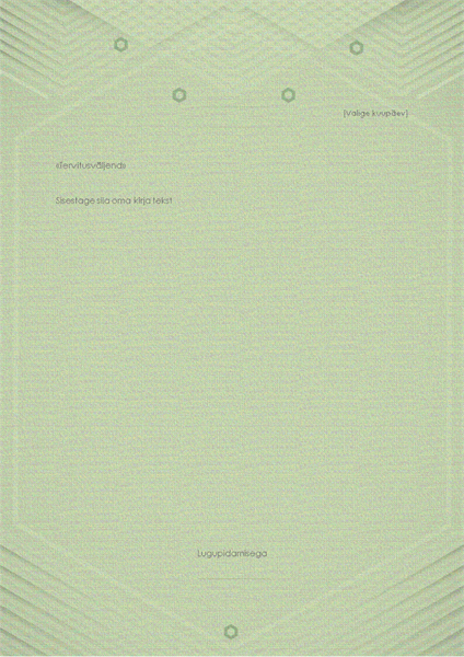 Erakirjade mall (elegantne hallikasroheline kujundus)