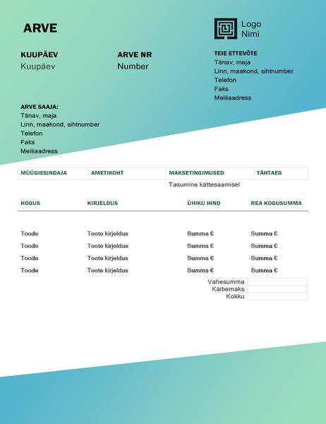 Teenusearve (rohelise astmikvärviga kujundus)