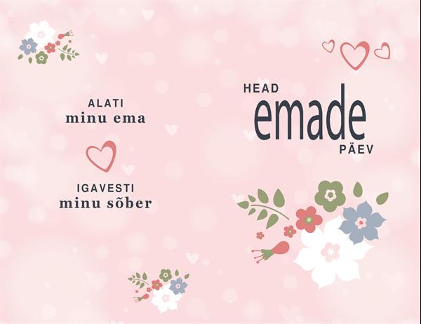 """Emadepäeva kaart """"Ilus roosas"""""""