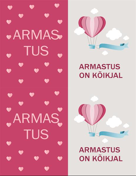 """Valentinipäeva kaart """"Armastus on kõikjal"""""""
