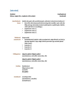Elulookirjeldus (funktsionaalne kujundus)