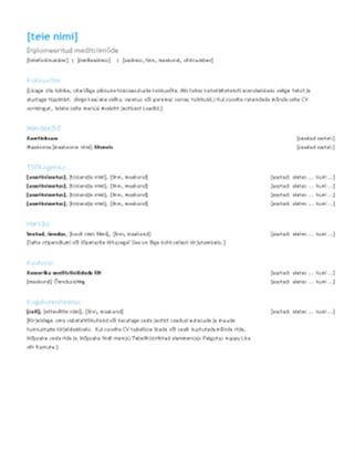 Registreeritud meditsiiniõe elulookirjeldus