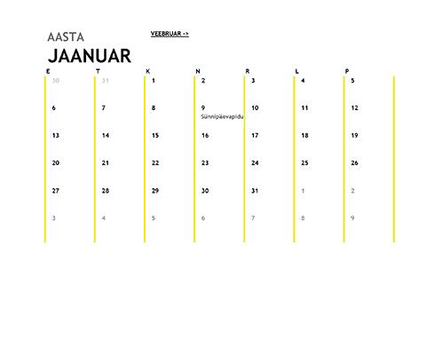 12 kuu kalender