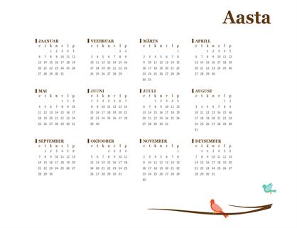 2017. aasta kalender 2017 (E–P)