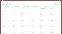 Kooliaasta kalender 2014–2015 (augustist juulini)