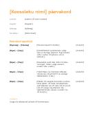 Ärikoosoleku päevakord (oranž kujundus)