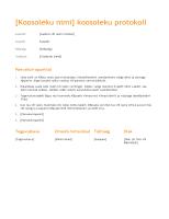 Koosolekuprotokoll (oranž kujundus)